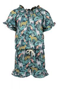 FLO jumpsuit  F102-5026 leaf short