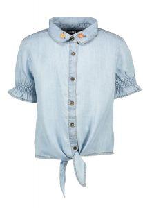 FLO blouse F102-5100 denim knoop blouse