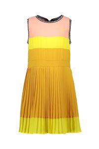 FLO dress F130-5815 maxi plisse colourblock