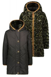 FLO jas F107-5202 reversible hooded Army