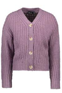 FLO vest  F108-5300 lila rib knit