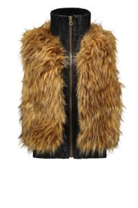 FLO bodywarmer F108-5347 fake fur natural