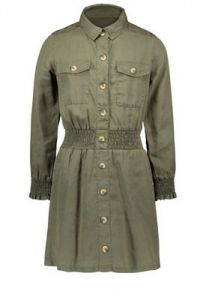FLO dress F108-5820 smock belt khaki