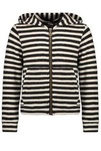 FLO vest F109-5311 fleece stripe black/white