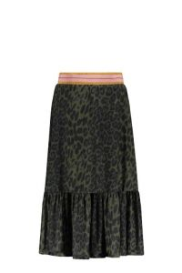 FLO skirt F109-5746 maxi mesh army