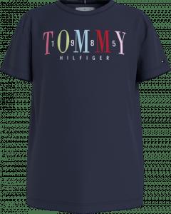 Tommy Hilfiger Tee KG0KG05761C satijn tekst
