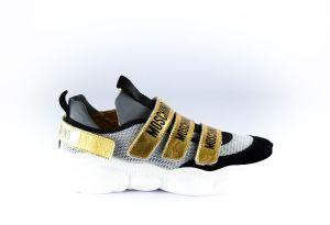 Moschino sneaker 63725 gold black