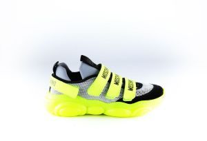 Moschino sneaker 63725 neon geel