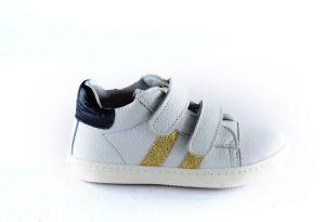 Clic sneaker CL-9891 wit goud stripe