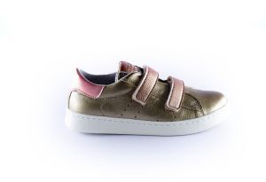 Clic sneaker CL-9479 Titan brons roze velcro
