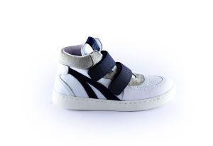 Clic sneaker  CL-20180 wit navy velcro