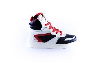 Red Rag Sneaker 13121 Black combi hoog