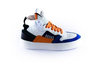 Giga sneaker G3724 Oranje wit denim