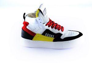 Giga sneaker G3724 Geel wit zwart rood