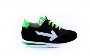 Clic sneaker CL-20331 Zwart groen wit