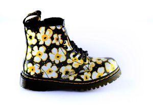Dr.Martens Bootie 26773001 Bloem wit geel