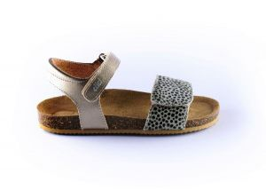Clic sandaal CL-Grass pony  puntos metallic