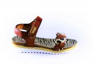 Red Rag Sandaal 19282 cognac leopard
