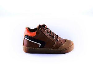 Clic sneaker boys CL-20221-W cognac zwarte stripe