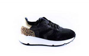 Pinocchio sneaker P1472-10SU zwart leopard