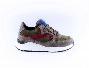 Hip sneaker H1355-18SU-65SU grijs groen bordo