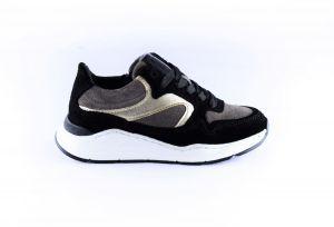 Hip sneaker H1355-10SU-23 zwart taupe gold