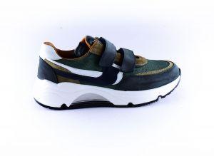 Rondinella sneaker 11714 velcro blauw groen
