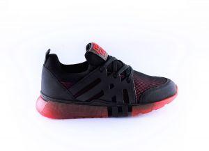 Red Rag boys sneaker 13557 lycra rood