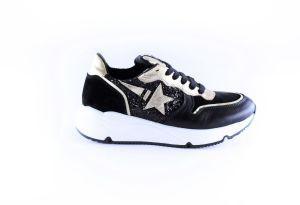 Clic sneaker CL-20337 zwart ster goud