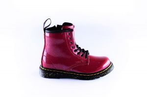 Dr.Martens bootie 27051620  red cosmo glitter
