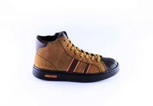 Pinocchio sneaker P1402-36CO cognac stripe