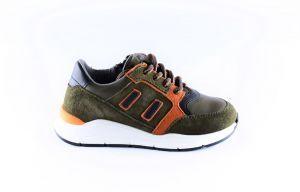 Pinocchio sneaker P1746-65CO groen cognac