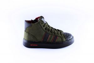 Hip sneaker H1943-65CO-DC groen stootneus