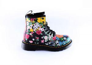 Dr.Martens bootie 27095001 Black flower