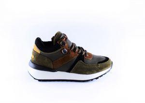 Hip sneaker H1501-65CO-CC groen cognac
