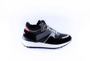 Hip sneaker H1501-10CO-AC Zwart groene veter