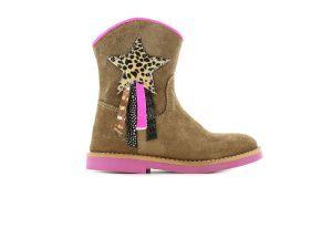 Shoesme laars S21W082-B cognac glitter ster