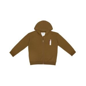 Little Indians hoodie vest SW2122U07 Olive