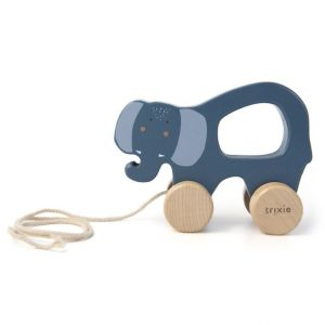 Trixie wooden pull toy 36-178 Mrs.Elephant