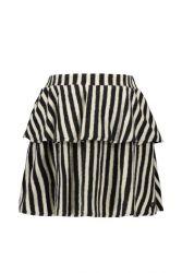 FLO skirt F109-5701 fleece stripe black/white