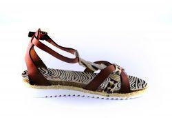 Red Rag Sandaal 19296 Cognac leopard