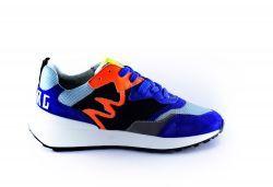 Red Rag Sneaker 13109 Blauw fanta met oranje