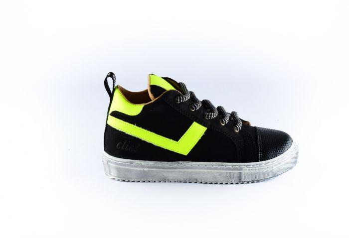 Clic sneaker CL-9862-K fluor stripe