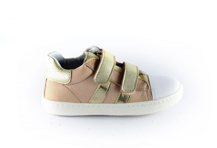 Clic sneaker CL-9891 gouden velcro