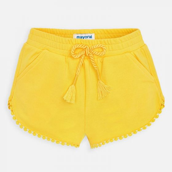 Mayoral Chenille Shorts 607  yellow