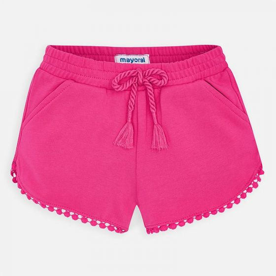 Mayoral Chenille Shorts 607  Fuchsia