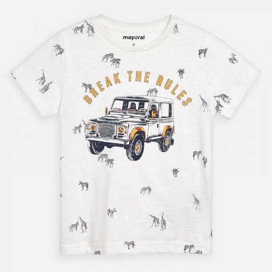 Mayoral Printed  tshirt 3062 cream